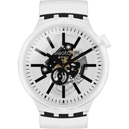 Swatch SO27E101 Big Bold BlackInJelly Unisex Kol Saati